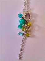 Extra long turquoise bead necklace (Code 2362)